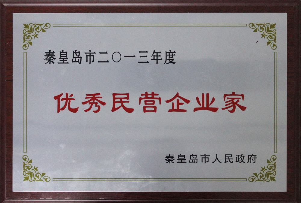 """康姿百德董事长李银祥被授予""""2013年度优秀民营企业家""""称号"""